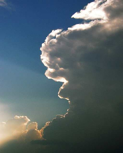 El cielo, esta tarde.