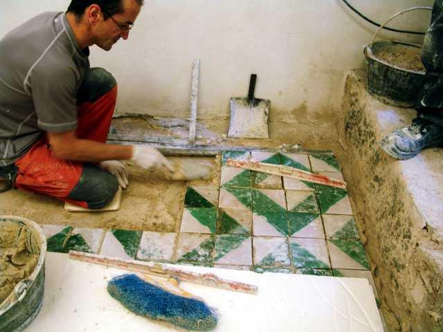 Azulejos para la Catedral de Huesca.