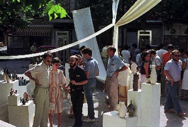 Ceramistas de la Plaza San Felipe. 25 años.