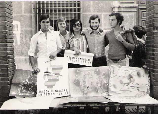 Plaza Santa Cruz. Zaragoza. 1979.