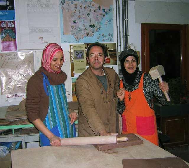 Ceramistas argelinas en San Mateo.