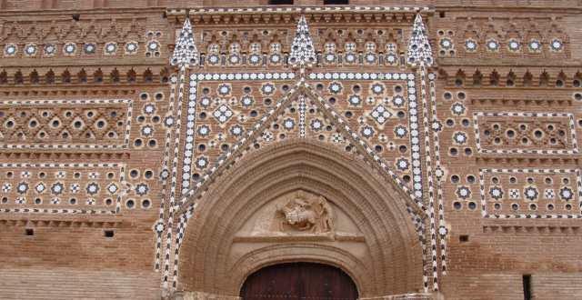 Iglesia de San Martín. Detalle de la fachada.