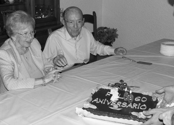 60 aniversario de boda.