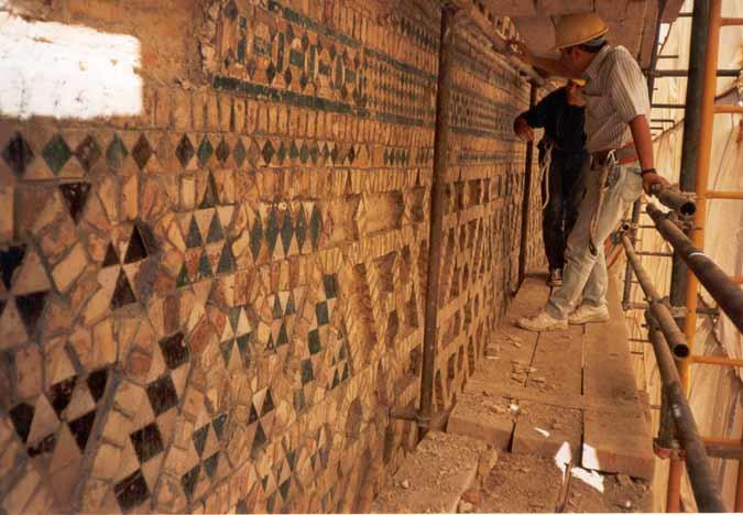 Reproducciones de cerámica mudéjar para la Restauración del Patrimonio.