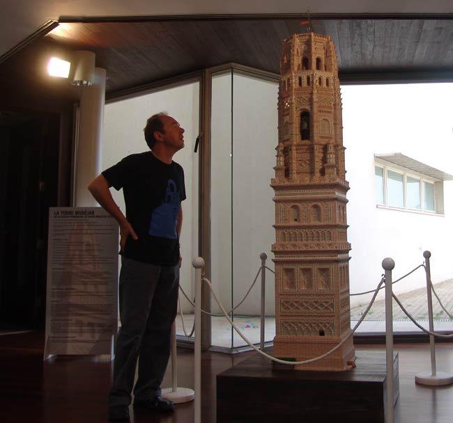 Maqueta de la torre de Utebo.
