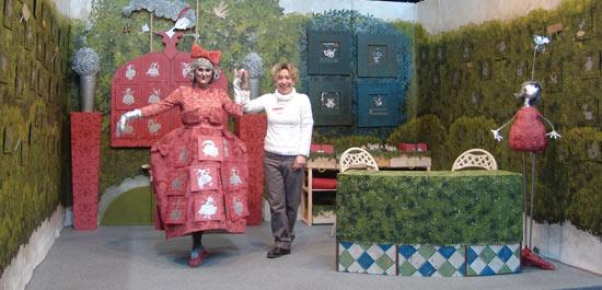 Pilona en la Feria de Artesanía.