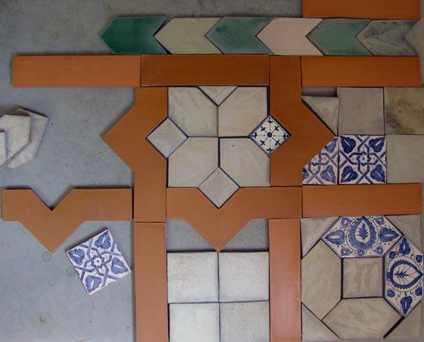 Azulejos del Palacio de la Aljafería (Zaragoza)