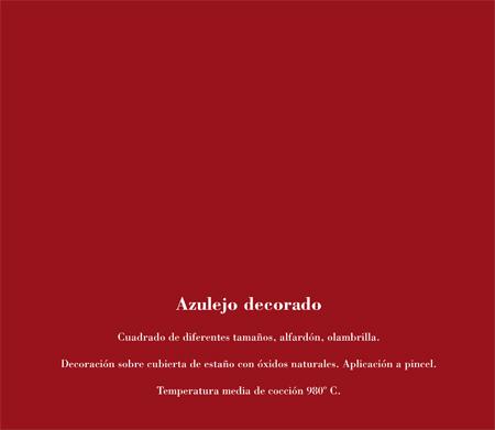 Alfar Mudéjar siglo XXI. Catálogo. Azulejo decorado.