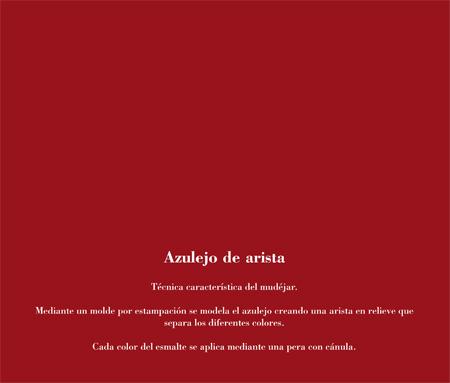 Alfar Mudéjar siglo XXI. Catálogo. Azulejo de arista.