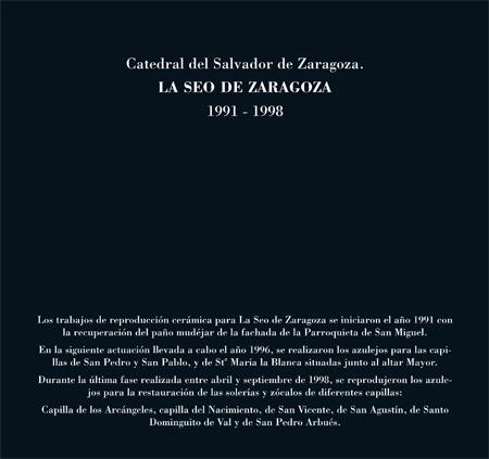 Alfar Mudéjar siglo XXI. Catálogo. Catedral del Salvador de Zaragoza.