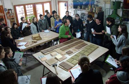 Visita de estudiantes franceses.