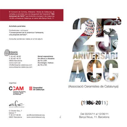 25 aniversario. Asociación Ceramistas de Cataluña.