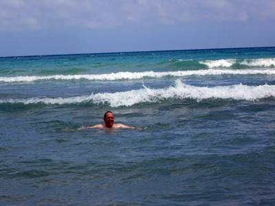 Baño en el mar.