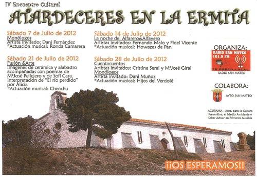 Atardeceres en la Ermita 2012.